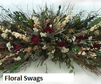 dried floral swags